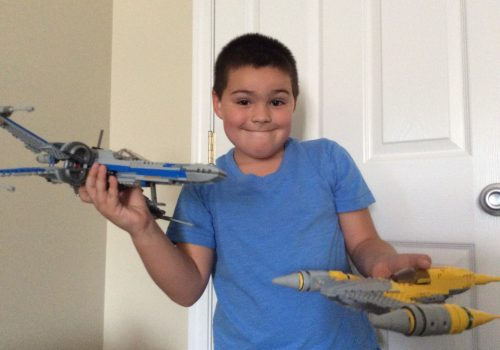 Lego X wing and Naboo starfighter.